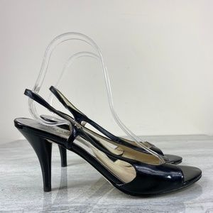 Micheal Micheal Kors Black Patent Leather Heels